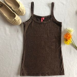 Anthropologie Shimmer Tank Top